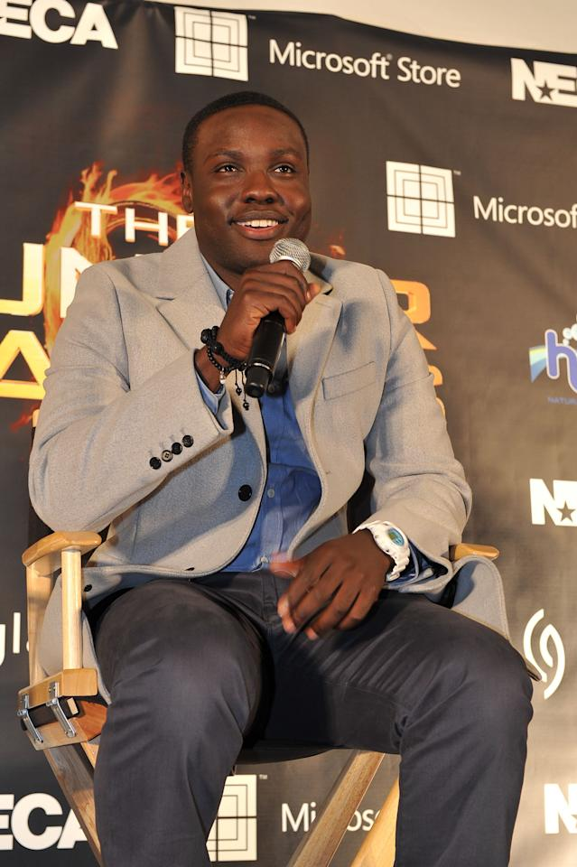 """ATLANTA, GA - MARCH 06: Actor Dayo Okeniyi attends """"The Hunger Games"""" National Mall tour fan event at Lenox Square on March 6, 2012 in Atlanta, Georgia. (Photo by Moses Robinson/Getty Images)"""