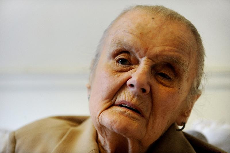 British journalist Clare Hollingworth, pictured in Hong Kong in 2009, died at age 105 (AFP Photo/MIKE CLARKE)