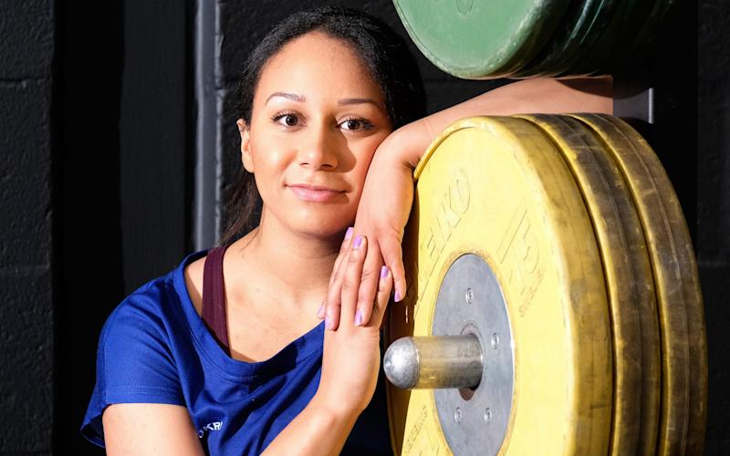 Weightlifter Zoe Smith reveals her troubles with depression in an interview with Pippa Field - Photo for The Telegraph by John Robertson.