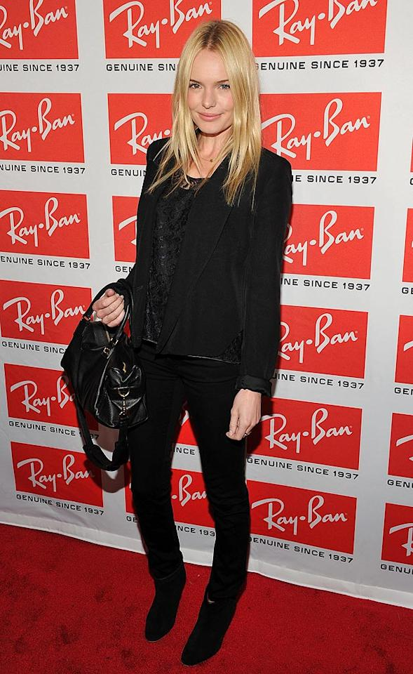 "Leave it to ""Superman Returns"" actress Kate Bosworth to look flawless in basic black jeans. Her dark leather Loewe handbag added a classy finishing touch. Theo Wargo/<a href=""http://www.wireimage.com"" target=""new"">WireImage.com</a> - May 12, 2010"