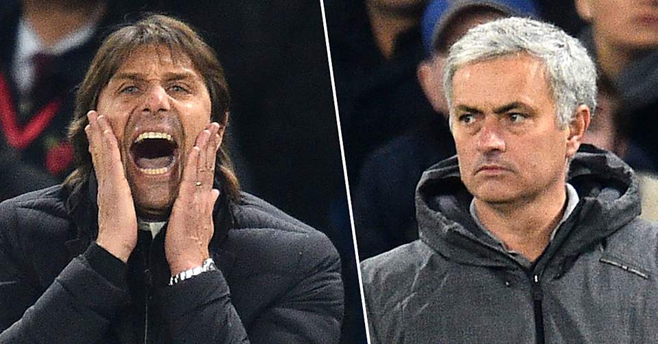 Antonio Conte is embroiled in a war of words with Jose Mourinho.