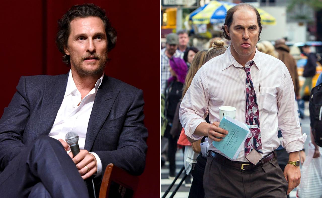 <p>It took eight months of cheeseburgers to get McConaughey into this state. Kudos. </p>
