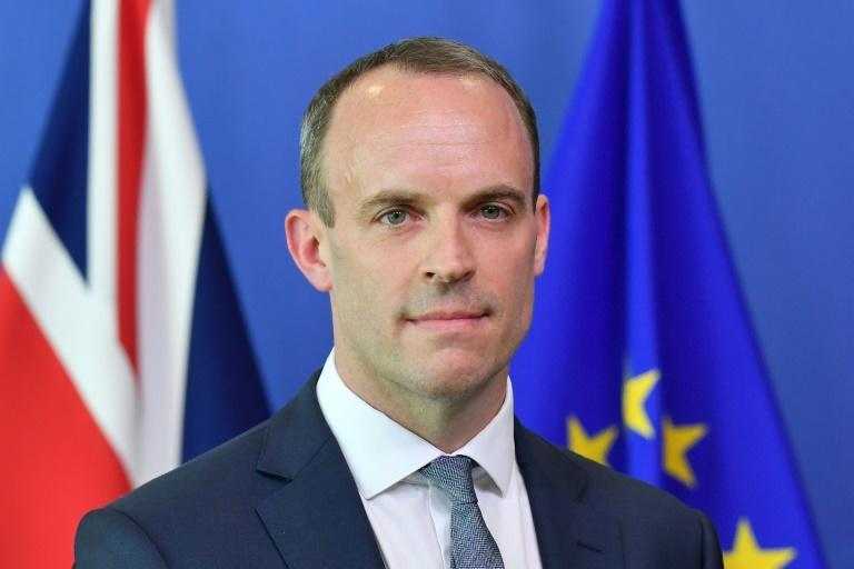 Britain's Brexit Minister Dominic Raab pictured during a joint press conference with the EU's chief Brexit negotiator Michel Barnier at the European Commission in Brussels on July 19, 2018