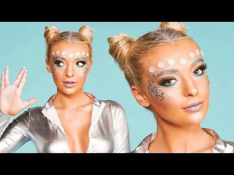 """<p>This alien makeup tutorial will have you ordering <strong>all the <a href=""""https://www.amazon.com/Rhinestone-Stickers-Rhinestones-Accessory-Decorations/dp/B07V5FFTYW/ref=sr_1_2?tag=syn-yahoo-20&ascsubtag=%5Bartid%7C10049.g.37939334%5Bsrc%7Cyahoo-us"""" rel=""""nofollow noopener"""" target=""""_blank"""" data-ylk=""""slk:silver gemstones"""" class=""""link rapid-noclick-resp"""">silver gemstones</a> and glitter (I'd suggest <a href=""""https://go.redirectingat.com?id=74968X1596630&url=https%3A%2F%2Fwww.sephora.com%2Fproduct%2Fglitter-stick-P425754&sref=https%3A%2F%2Fwww.cosmopolitan.com%2Fstyle-beauty%2Fbeauty%2Fg37939334%2Falien-makeup-tutorials%2F"""" rel=""""nofollow noopener"""" target=""""_blank"""" data-ylk=""""slk:roll-on body glitter"""" class=""""link rapid-noclick-resp"""">roll-on body glitter</a> for less mess) you can get your hands on. </strong>This is the actual definition of cute alien makeup. Looking for something spookier? Check out the half-face Halloween makeup looks below.</p><p><a href=""""https://www.youtube.com/watch?v=Gq4Ufxe4i0o"""" rel=""""nofollow noopener"""" target=""""_blank"""" data-ylk=""""slk:See the original post on Youtube"""" class=""""link rapid-noclick-resp"""">See the original post on Youtube</a></p>"""