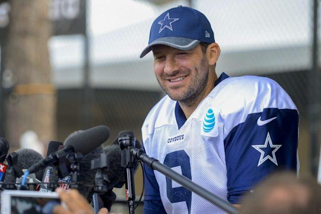 Is the Broncos' offensive line upgrade good enough to attract Tony Romo? (AP)