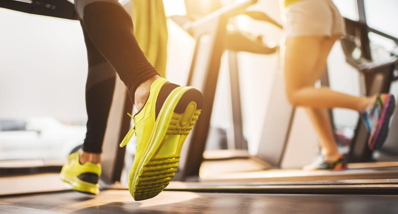 "<p>Forget the dreadmill — it's time to finally make treadmill workouts more interesting. Instead of slogging away at the same pace in the same direction, Chambers suggests slowing down the speed and doing side lateral skips. ""They primarily work the muscles in your butt, hips, and thighs, but they also hit the transverse abdominus — the deepest layer of the abdominal muscles — to add a little spice to your workout,"" he says. Try the following quickie routine: side lateral skips: 30 seconds on each side (repeat so you do skips twice per side),1 minute: sprint (as fast as you can go),1 minute: rest; repeat 4 times.</p>"