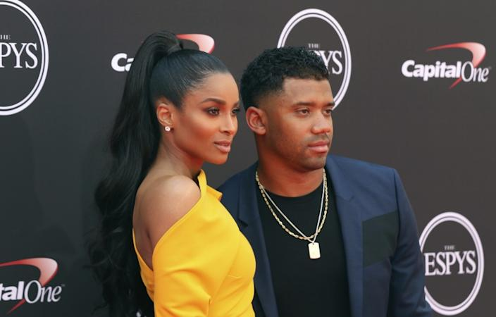 """Singer-songwriter Ciara and Seattle Seahawks quarterback Russell Wilson have shared the first photos of their newborn. <span class=""""copyright"""">(Willy Sanjuan / Associated Press)</span>"""