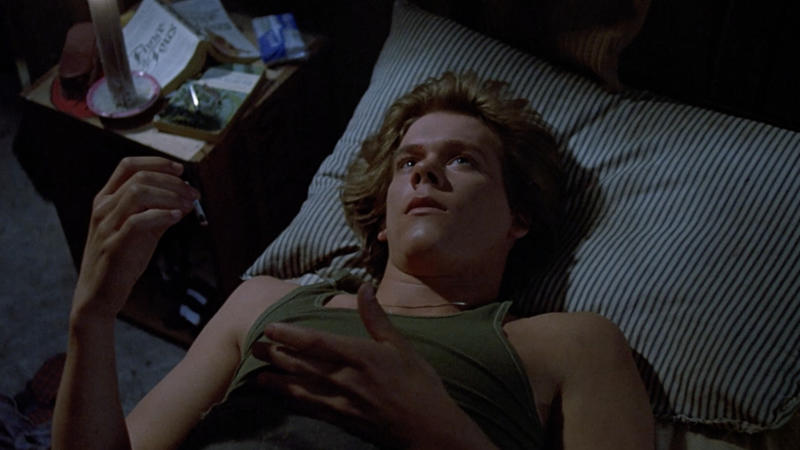 Kevin Bacon in his breakout role as a slasher victim in 'Friday the 13th'. (Credit: Warner Bros/Paramount)