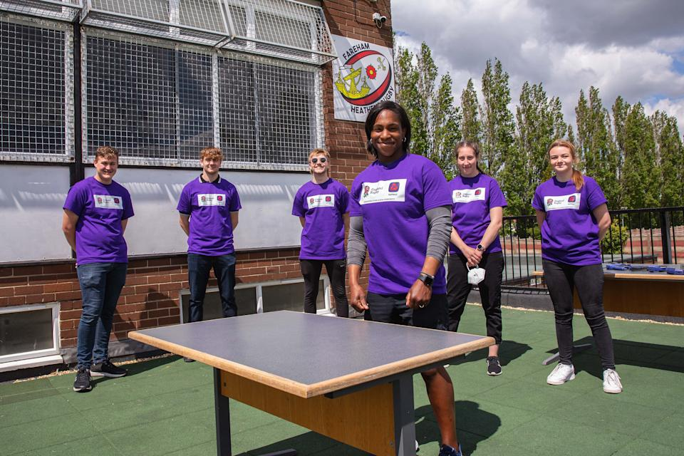 Alphonsi, 37, proved she is a true rugby legend by helping revamp the bar at Fareham Heathens as part of the NatWest RugbyForce initiative