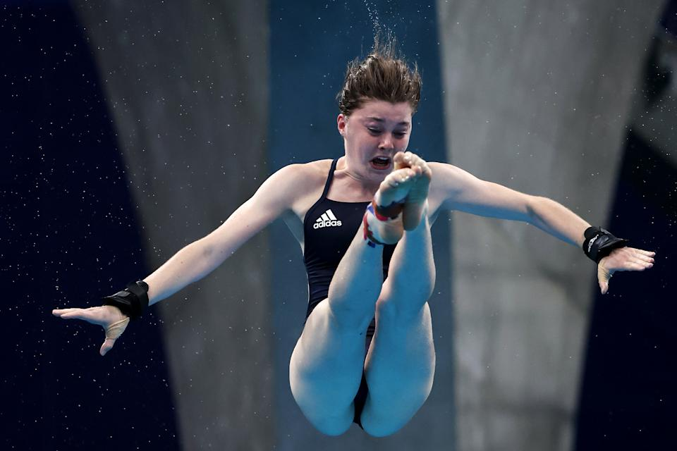 <p>Andrea Spendolini Sirieix of Team Great Britain competes in the Women's 10m Platform Semifinal on day thirteen of the Tokyo 2020 Olympic Games at Tokyo Aquatics Centre on August 05, 2021 in Tokyo, Japan. (Photo by Tom Pennington/Getty Images)</p>