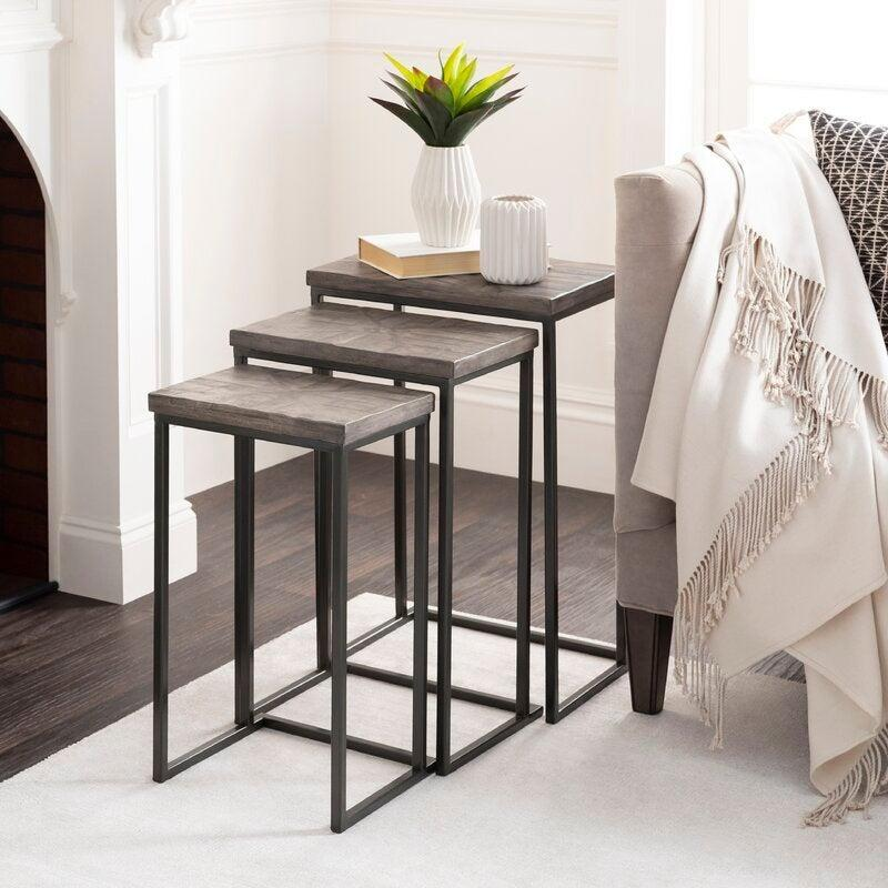"""<h2>Foundry Select Haynes Frame Nesting Tables</h2><br><strong>Deal: 54% off</strong><br>Place these pretty nesting tables next to your bed as a nightstand or take advantage of all three to display your prized plant collection. The possibilities are endless and the deal is almost too good to be true. <br><br><em>Shop</em> <strong><em><a href=""""https://www.wayfair.com/brand/bnd/foundry-select-b44314.html"""" rel=""""nofollow noopener"""" target=""""_blank"""" data-ylk=""""slk:Foundry Select"""" class=""""link rapid-noclick-resp"""">Foundry Select</a></em></strong><br><br><br><br><strong>Foundry Select</strong> Haynes Frame Nesting Tables, $, available at <a href=""""https://go.skimresources.com/?id=30283X879131&url=https%3A%2F%2Fwww.wayfair.com%2Ffurniture%2Fpdp%2Ffoundry-select-haynes-frame-nesting-tables-w003099294.html"""" rel=""""nofollow noopener"""" target=""""_blank"""" data-ylk=""""slk:Wayfair"""" class=""""link rapid-noclick-resp"""">Wayfair</a>"""
