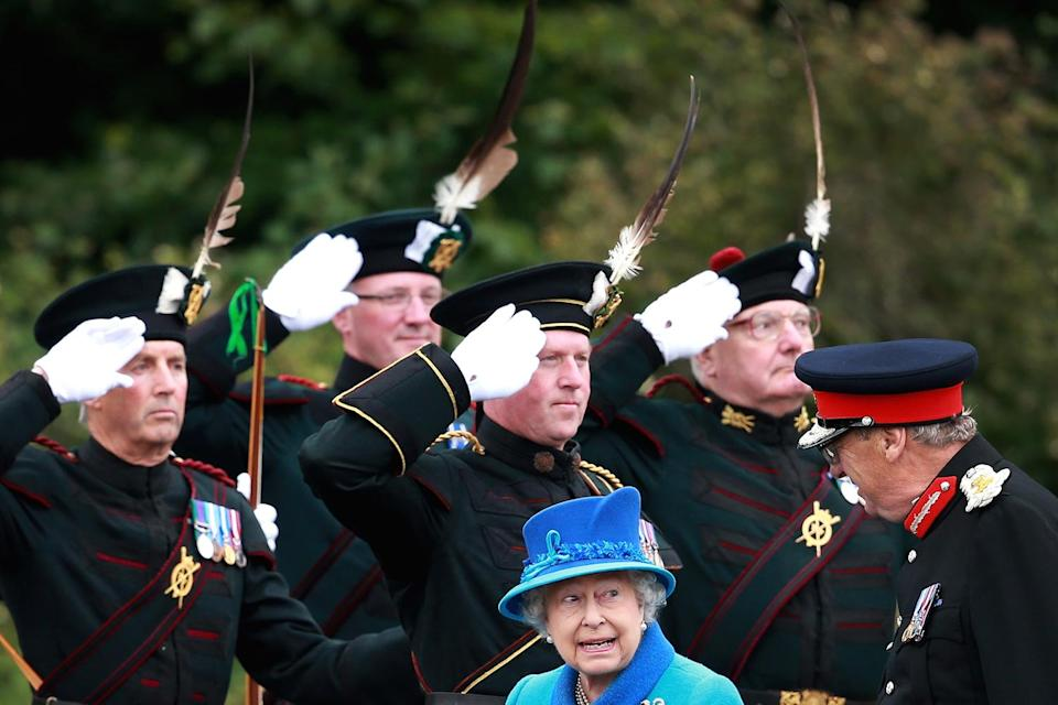 """<p>The Queen made history as the longest-reigning British monarch on September 9, 2015. Jackson was on site, noting she """"did not make a great fanfare of this incredible milestone, and merely carried on with the 'day job'"""" of opening a rail station in Scotland. """"It was a day like any other in principle, but with a significance that could not be ignored.""""</p>"""