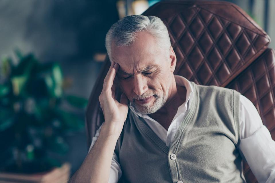 """Headaches are tricky, because they're very common, but may be indicative of something else, like a brain tumor. Pay attention to changes in the frequency, type, and intensity of a headache, and if you notice anything out of the ordinary, you should seek prompt neurological evaluation, says <a href=""""https://www.providence.org/doctors/profile.aspx?name=santosh+kesari&id=203907"""" rel=""""nofollow noopener"""" target=""""_blank"""" data-ylk=""""slk:Santosh Kesari"""" class=""""link rapid-noclick-resp""""><strong>Santosh Kesari</strong></a><strong>, MD</strong>, neuro-oncologist and neuroscientist at the John Wayne Cancer Institute at Providence Saint John's Health Center in Santa Monica. """"Larger tumors and faster-growing tumors cause increased pressure in the brain resulting in activation of pain receptors on the coverings of the brain (meninges) resulting in headache,"""" he explains. """"The brain itself has no pain receptors. A small fast growing tumor can cause as severe a headache as a large but slow-growing tumor."""""""