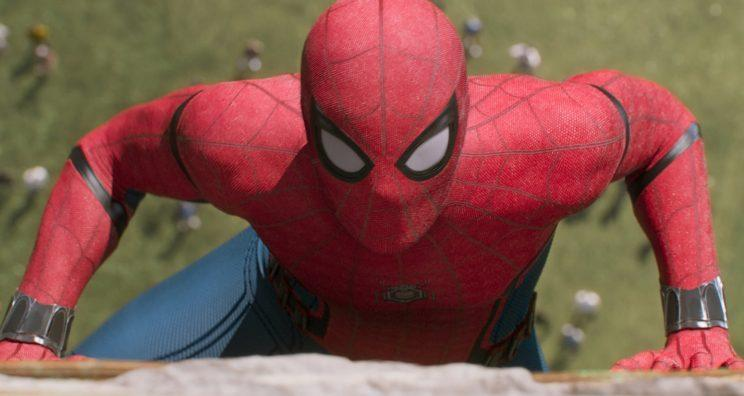 Tom Holland suited up in 'Spider-Man: Homecoming' (credit: Sony/Marvel Studios)
