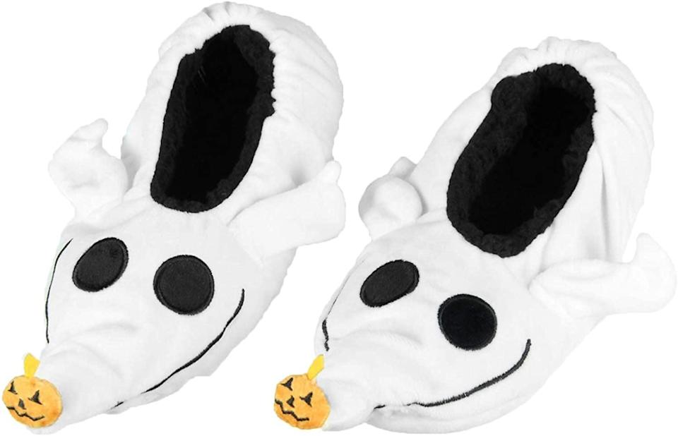 <p>Set the table with this this <span>The Nightmare Before Christmas Zero Dog Slippers</span> ($20)</p>