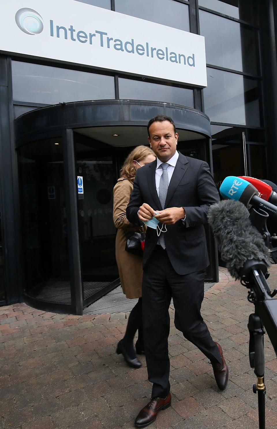 Tanaiste Leo Varadkar during a visit to InterTradeIreland's offices in Newry (Brian Lawless/PA) (PA Wire)