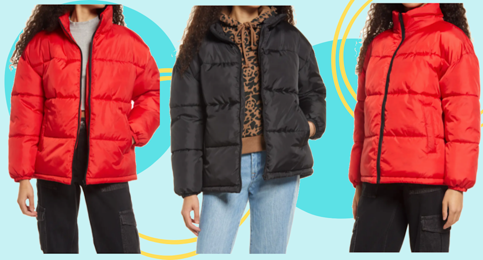 This affordable puffer jacket is just $89 CAD/$79 USD at Nordstrom.