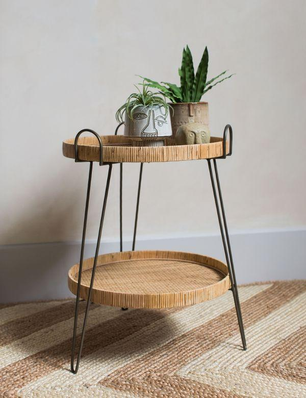 """<br><br><strong>Rose & Grey</strong> Carrie Two-Tier Rattan Side Table, $, available at <a href=""""https://www.roseandgrey.co.uk/carrie-two-tier-rattan-side-table"""" rel=""""nofollow noopener"""" target=""""_blank"""" data-ylk=""""slk:Rose & Grey"""" class=""""link rapid-noclick-resp"""">Rose & Grey</a>"""