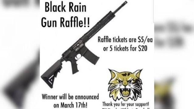 A Missouri youth baseball team is raffling off an AR-15 semi-automatic rifle. (Facebook via the Kansas City Star)