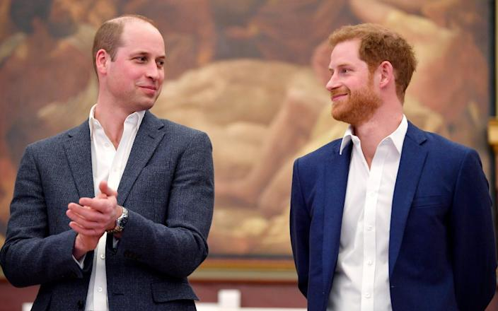 Prince William, Duke of Cambridge and Prince Harry attend the opening of the Greenhouse Sports Centre - WPA Pool/Getty Images Europe