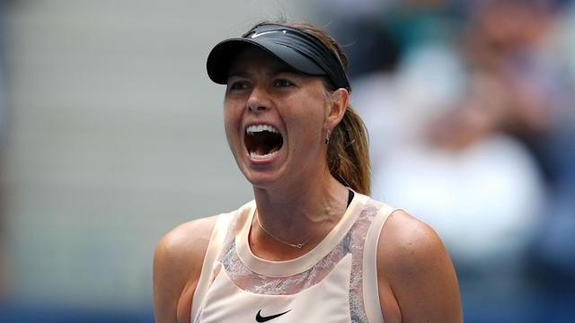 Maria Sharapova reached her second semi-final since returning from suspension and will face home favourite Peng Shuai in the last four.