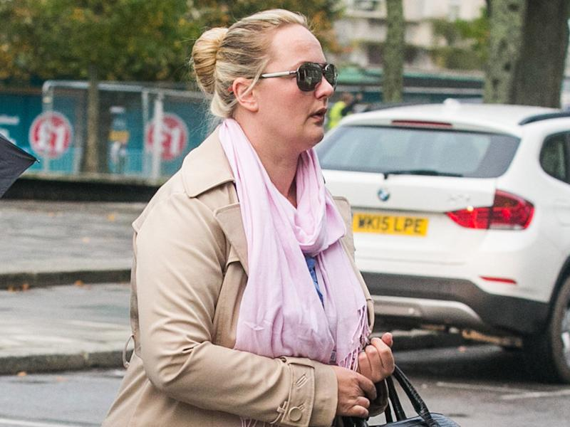 Monika Fourie arrives at the Plymouth Crown Court: SWNS.com