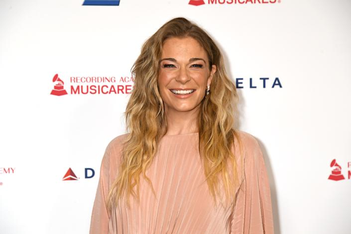 LOS ANGELES, CALIFORNIA - JANUARY 24: LeAnn Rimes attends MusiCares Person of the Year honoring Aerosmith at West Hall at Los Angeles Convention Center on January 24, 2020 in Los Angeles, California. (Photo by Jeff Kravitz/FilmMagic)