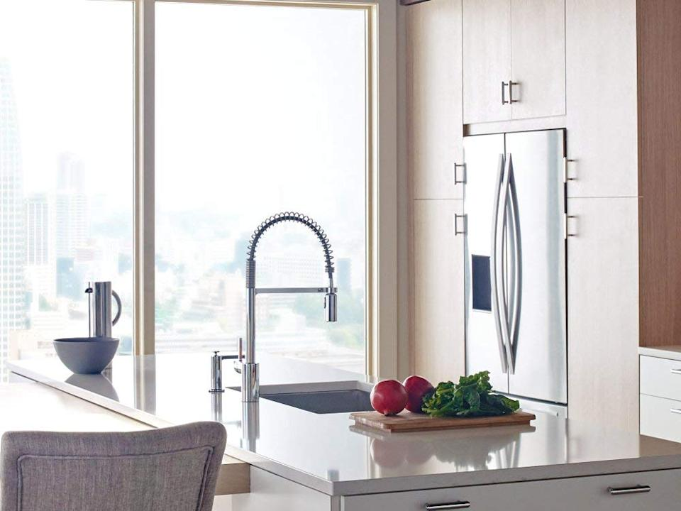 Moen 5923 Align One-Handle Pre-Rinse Spring Pulldown Kitchen Faucet with Power Clean. (Photo: Amazon)