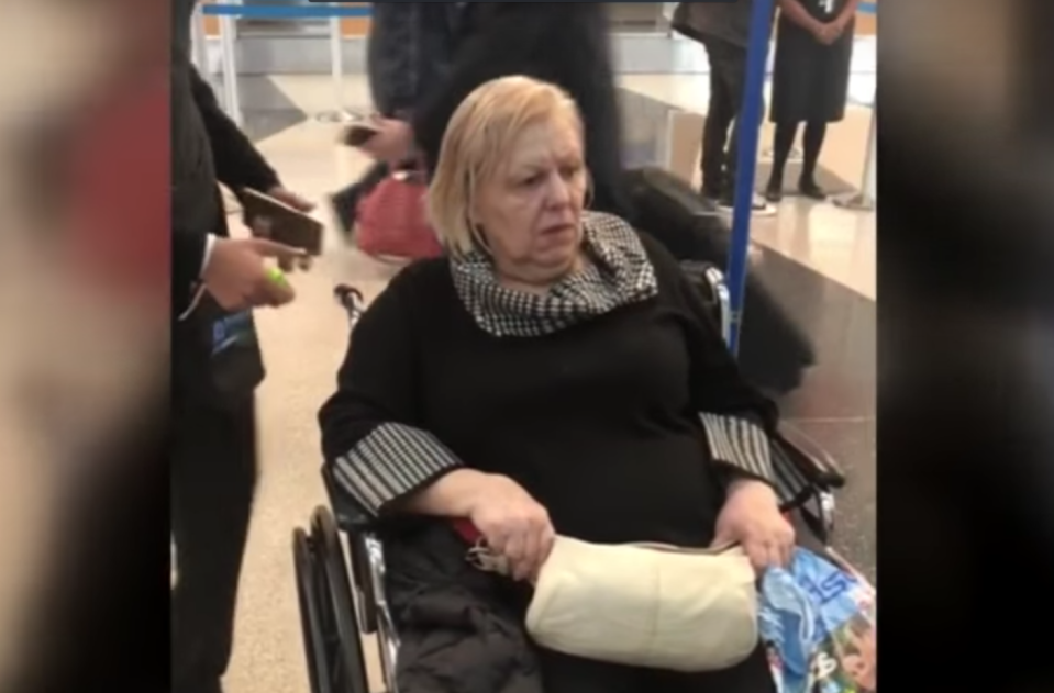 American Airlines investigating the case of a 67-year-old woman in a wheelchair was allegedly left alone overnight at Chicago's O'Hare International Airport when her flight was canceled — and discovered she was alone for only about 45 minutes before relatives picked her up. (Photo: YouTube/CBS Chicago)