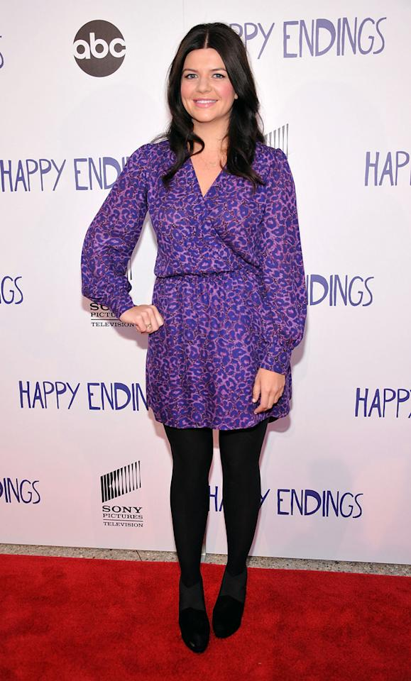 "Casey Wilson arrives at Sony Pictures Television's screening of ABC's ""Happy Endings"" at the  Leonard H. Goldenson Theatre on May 24, 2012 in North Hollywood,  California."