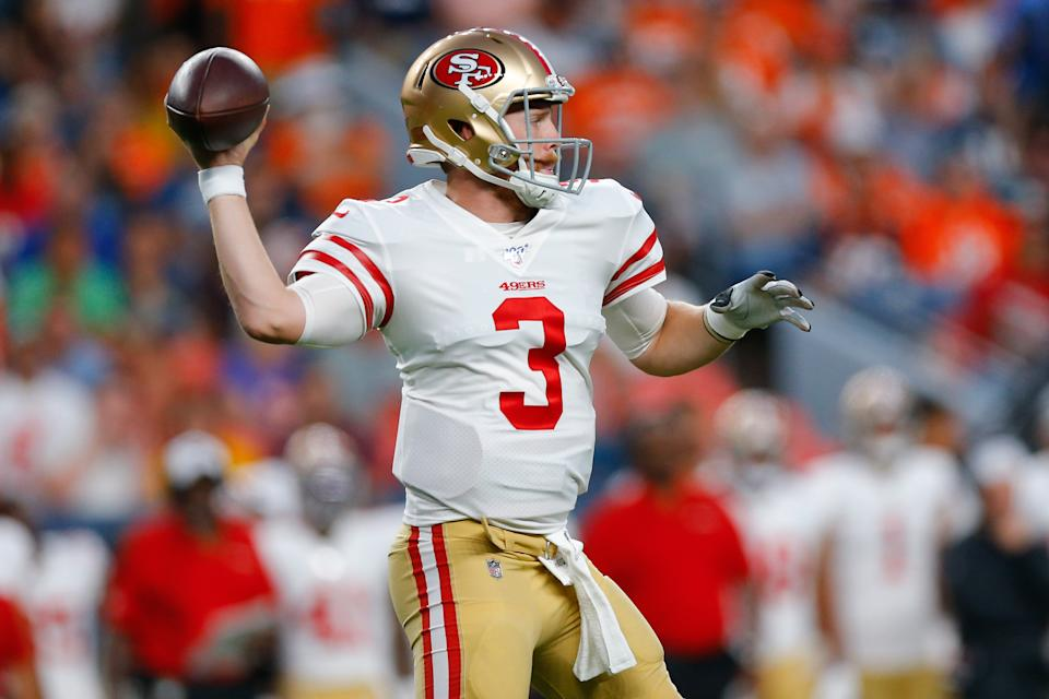 Niners quarterback C.J. Beathard's brother was fatally stabbed to death in Nashville. (Justin Edmonds/Getty Images)
