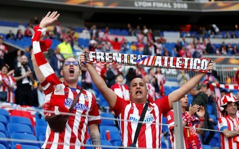 Atletico Madrid fans - Credit: REUTERS