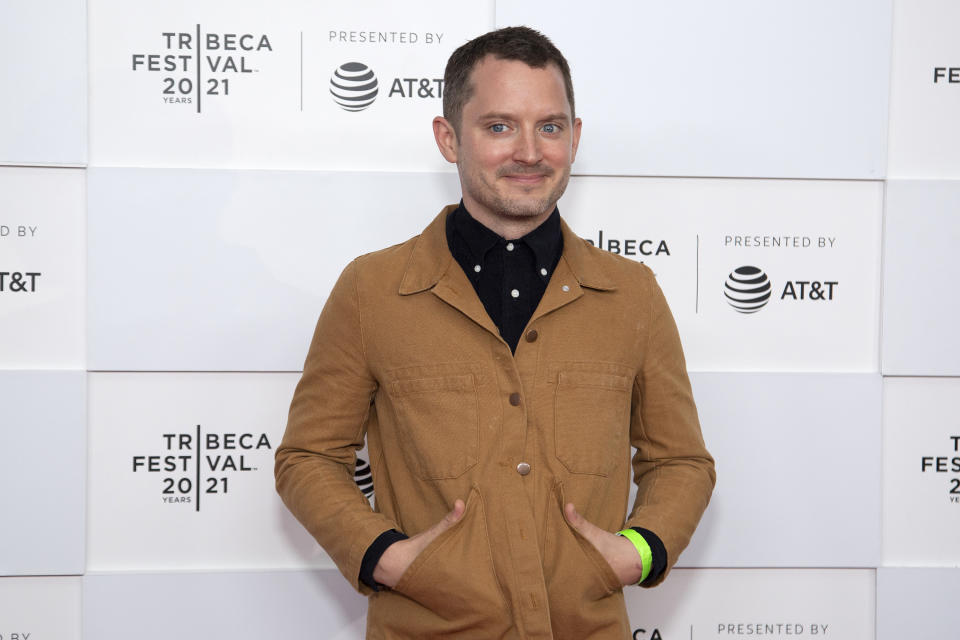NEW YORK, NEW YORK - JUNE 11: Elijah Wood attends 'No Man Of God' Premiere during the 2021 Tribeca Festival at Pier 76 on June 11, 2021 in New York City. (Photo by Santiago Felipe/Getty Images)