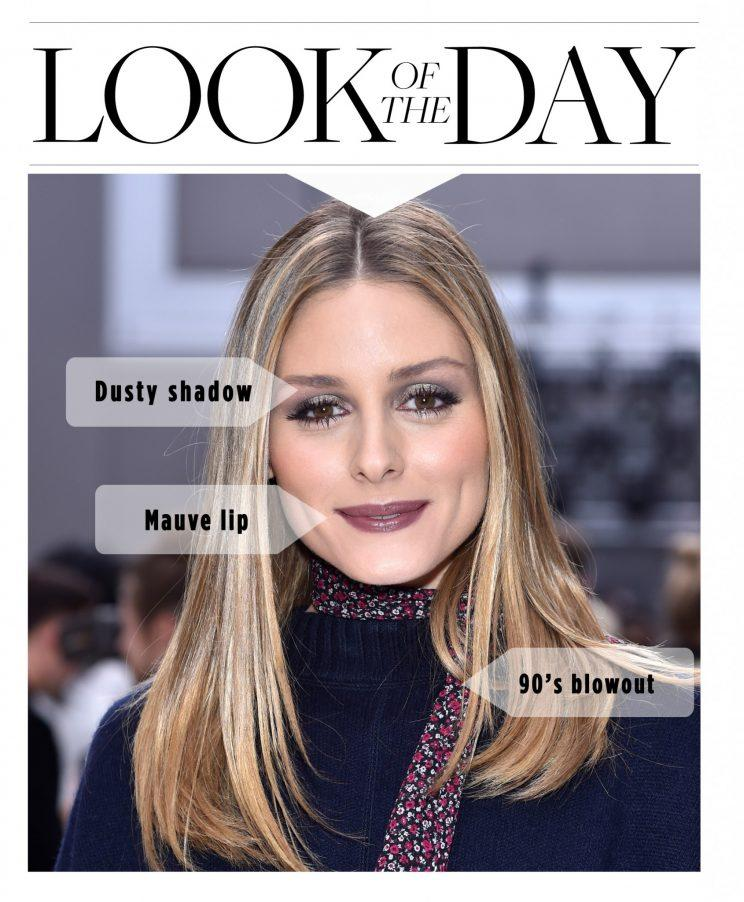 Olivia Palermo went for a '90s beauty look at the Chloe fashion show. (Photo: Getty Images)