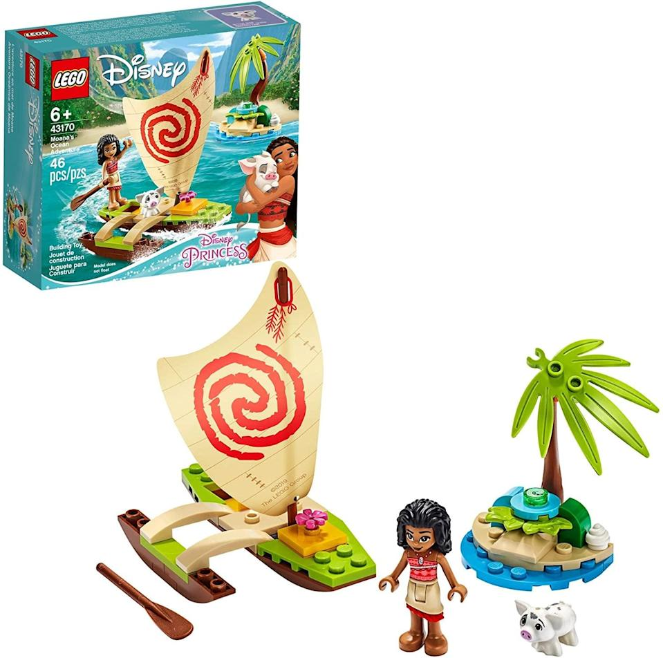 "<p><a href=""https://www.popsugar.com/buy/Lego-Disney-Moana-Ocean-Adventure-551165?p_name=Lego%20Disney%20Moana%27s%20Ocean%20Adventure&retailer=amazon.com&pid=551165&price=10&evar1=moms%3Aus&evar9=47243673&evar98=https%3A%2F%2Fwww.popsugar.com%2Ffamily%2Fphoto-gallery%2F47243673%2Fimage%2F47243706%2FLego-Disney-Moana-Ocean-Adventure&list1=toys%2Ctoy%20fair%2Ckid%20shopping%2Ckids%20toys&prop13=api&pdata=1"" class=""link rapid-noclick-resp"" rel=""nofollow noopener"" target=""_blank"" data-ylk=""slk:Lego Disney Moana's Ocean Adventure"">Lego Disney Moana's Ocean Adventure</a> ($10) has 46 pieces and is best suited for kids ages 6 and up.</p>"