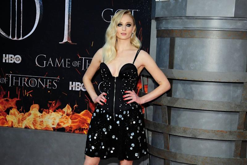 """Sophie Turner attends the final season premiere of """"Game Of Thrones"""" on April 3, 2019, at Radio City Music Hall in New York City. (Photo: Paul Bruinooge/Patrick McMullan via Getty Images)"""