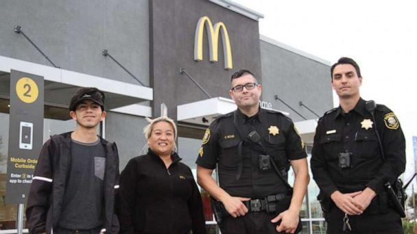 PHOTO: McDonald's employees helped rescue a woman from a man who threatened to kill her in Lodi, Calif., Dec. 24, 2019. (San Joaquin County Sheriff's Office)