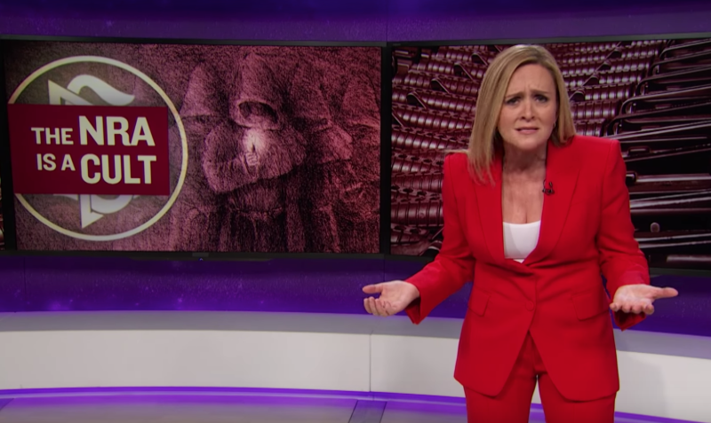 Samantha Bee Invites 'Brainwashed' NRA Members To Join Scientology Instead