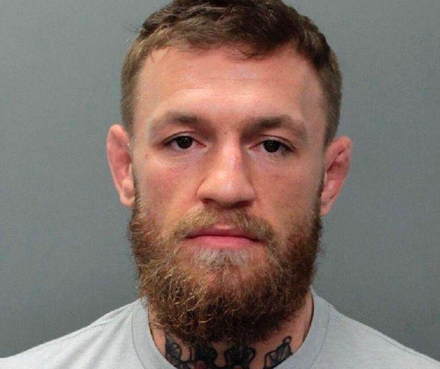 Conor McGregor was booked in a Miami-Dade jail Monday night. (Miami Police)