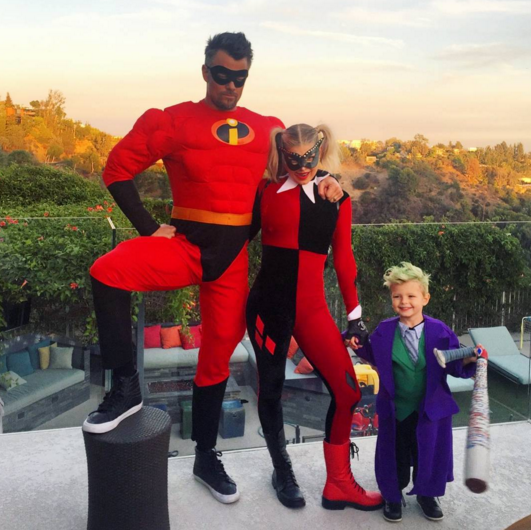 """<p>""""Had an Incredible Halloween with these jokers!"""" wrote the <i>Spaceman</i> actor, who was dressed as Mr. Incredible alongside his wife (Harley Quinn) and son (the Joker). We wouldn't want to mess with any of them! (Photo: <a rel=""""nofollow"""" href=""""https://www.instagram.com/p/BMRzKvpBYYB/"""">Instagram</a>) </p>"""