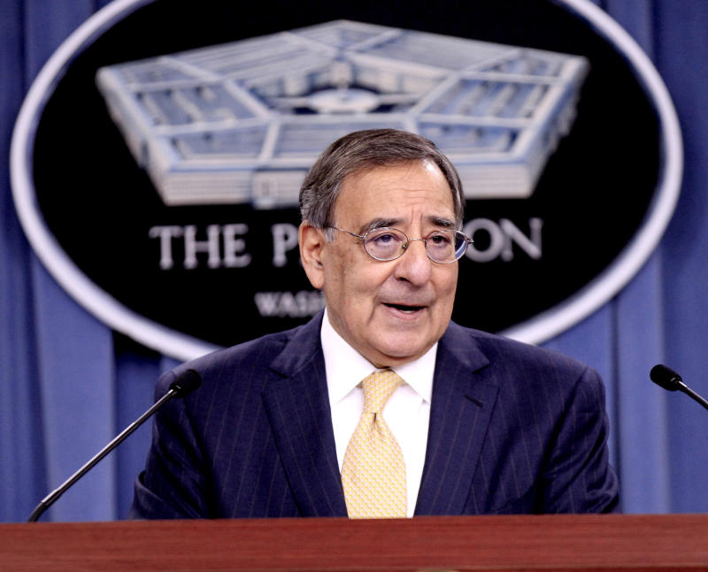 FILE - In this Jan. 5, 2012 file photo, Defense Secretary Leon Panetta speaks at the Pentagon. Panetta said Wednesday, Jan. 18, 2012, the U.S. military is taking no special steps in anticipation of a potential crisis with Iran in the Persian Gulf because the U.S. already is fully prepared to deal with any such problem.  (AP Photo/Pablo Martinez Monsivais, File)