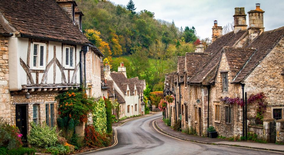 Castle Combe in the Fall, Wiltshire, England (Getty)