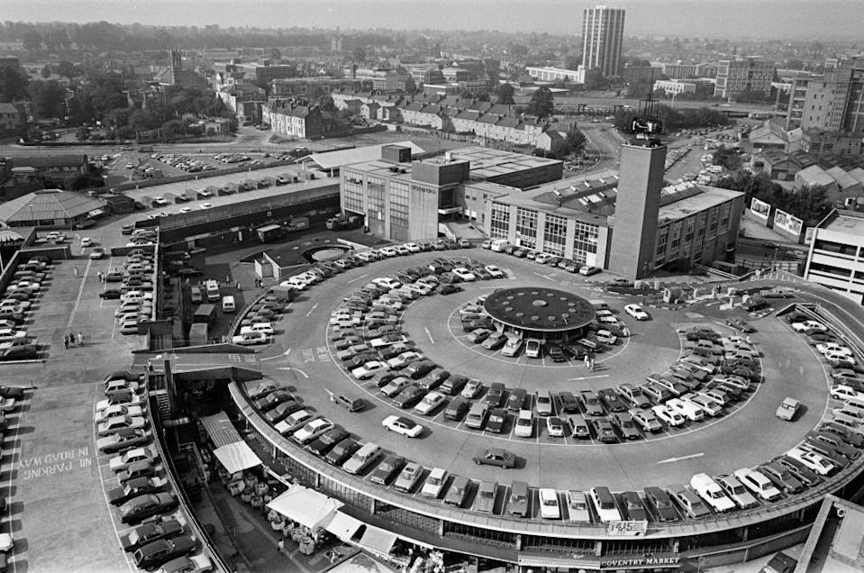 Motor city … the listed City Arcade Carpark in 1985.