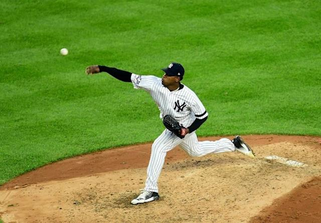 New York Yankees pitcher Luis Severino will miss all of the 2020 season after suffering a torn elbow ligament (AFP Photo/Emilee Chinn)