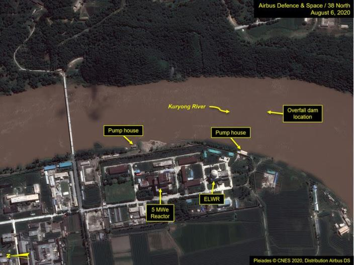 A view of the Yongbyon Nuclear Scientific Research Center on the bank of the Kuryong River in Yongbyon