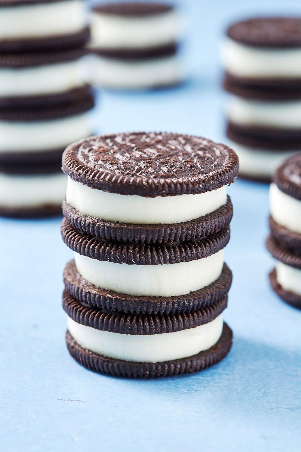"""<p>Looks like a cookie, tastes like a shot 😛</p><p>Get the recipe from <a href=""""https://www.delish.com/cooking/recipe-ideas/a19745937/oreo-jell-o-shots-recipe/"""" rel=""""nofollow noopener"""" target=""""_blank"""" data-ylk=""""slk:Delish"""" class=""""link rapid-noclick-resp"""">Delish</a>.</p>"""