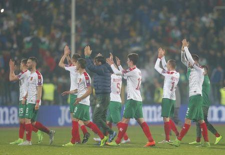 Football Soccer - Bulgaria v Netherlands - 2018 World Cup Qualifying European Zone - Group A - Vasil Levski Stadium, Sofia, Bulgaria - 25/03/17 - Bulgaria's players react.  REUTERS/Laszlo Balogh