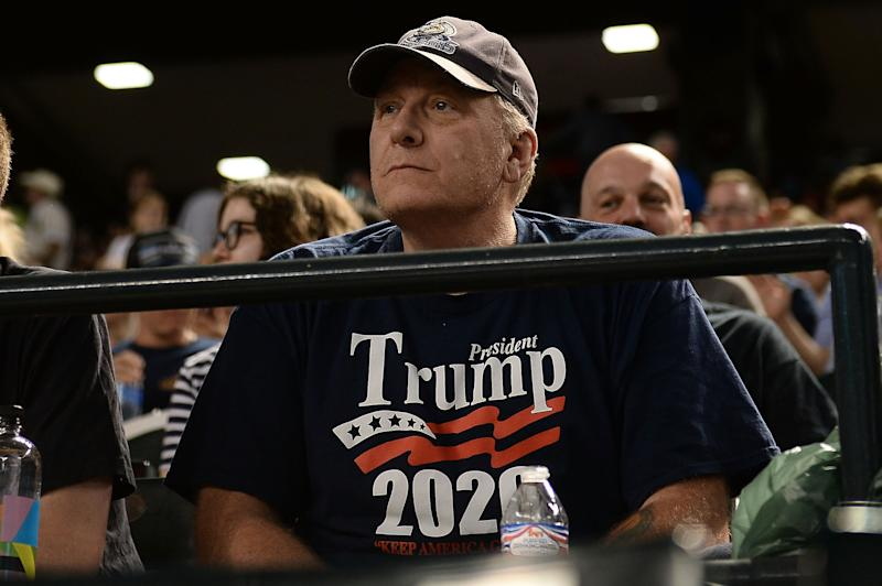 Curt Schilling sits alongside a who's who of prominent conservatives on the border wall campaign board. (Jennifer Stewart/Getty Images)