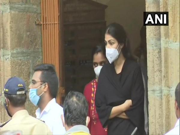 Rhea Chakraborty being taken for medical examination after being arrested by NCB in drug case related to Sushant Singh Rajput's death probe.