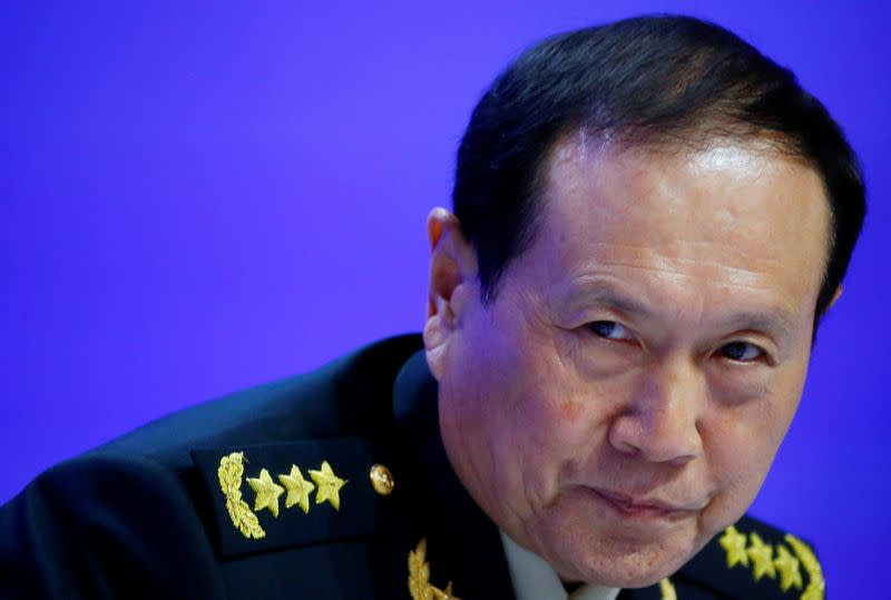 FILE PHOTO: Chinese Defense Minister Wei Fenghe attends the IISS Shangri-la Dialogue in Singapore